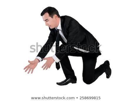 zakenman · denkbeeldig · touw · geïsoleerd · business · werk - stockfoto © fuzzbones0