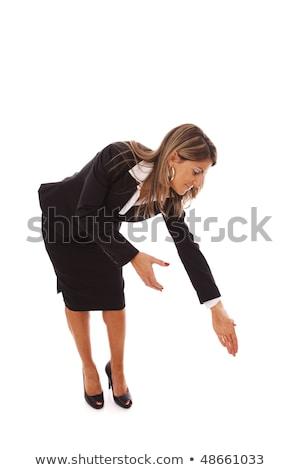 Business woman grab something Stock photo © fuzzbones0