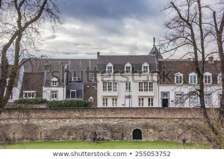 中世 住宅 後ろ 市 壁 ホーム ストックフォト © Hofmeester