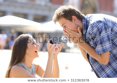 Young girl is proposed Stock photo © fuzzbones0
