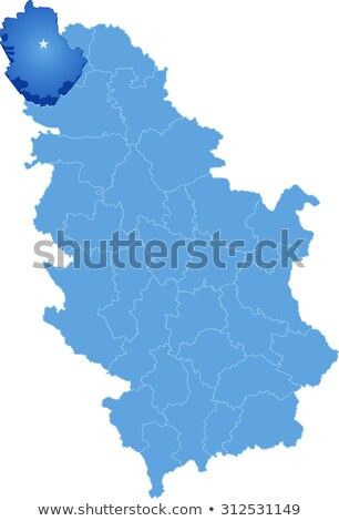 Stock photo: Map of Serbia, Subdivision West Backa District