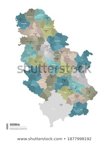 Stok fotoğraf: Harita · Sırbistan · bölge · dışarı · yalıtılmış · beyaz