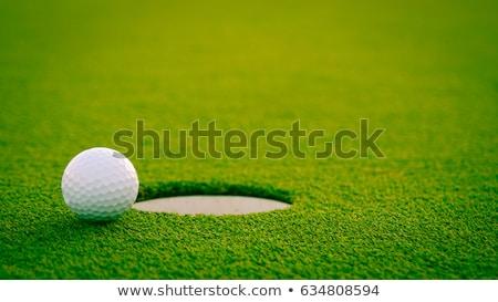 Stok fotoğraf: Golf Hole On Green