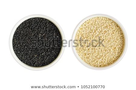 Csetepaté organikus szezám fehér izolált Stock fotó © ziprashantzi