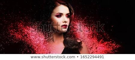 ヴィンテージ スタイル 官能的な 肖像 ベール 少女 ストックフォト © Avlntn