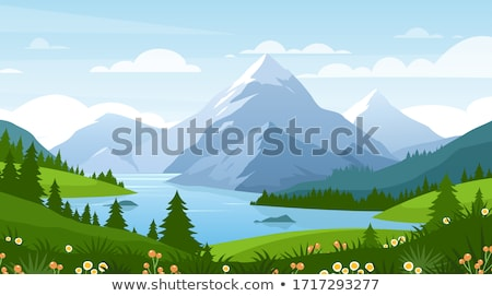 nyár · tájkép · virágzó · hegy · völgy · Grúzia - stock fotó © kotenko