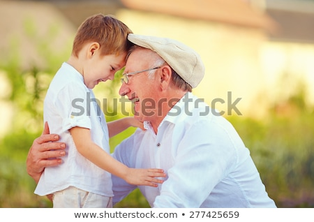 grandfather grandson forehead Stock photo © Paha_L