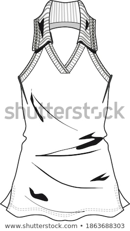 Stock photo: Lady in dress