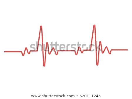 Szívverés monitor vonal ikon sarkok háló Stock fotó © RAStudio