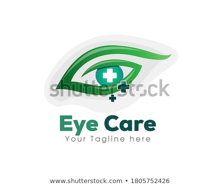 Göz bakım dizayn logo gözlükçü yaratıcı Stok fotoğraf © acong_kecil