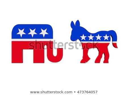 demokratikus · republikánus · politikai · szimbólumok · buli · terv - stock fotó © zhukow