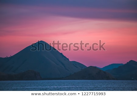 panoramic sunset over the virgin rock stock photo © morrbyte