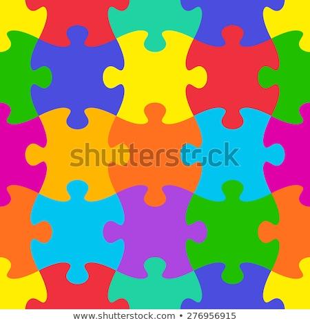 kirakós · játék · végtelen · minta · háttér · csoport · puzzle · játék - stock fotó © pakete