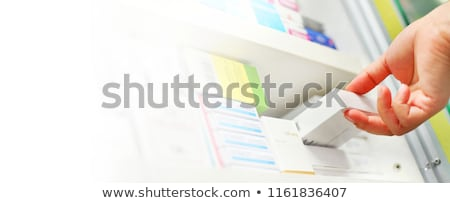 Vak geneeskunde hand punten vinger Stockfoto © vectorikart