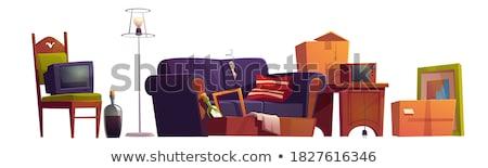 Szék bútor illusztráció fehér háttér fém Stock fotó © bluering