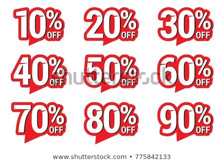 40 financière vente nombre acheter face Photo stock © dzsolli