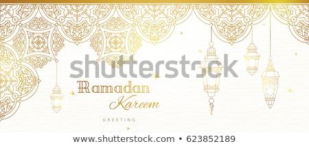 Moskee sterren moslim gemeenschap festival islam Stockfoto © popaukropa