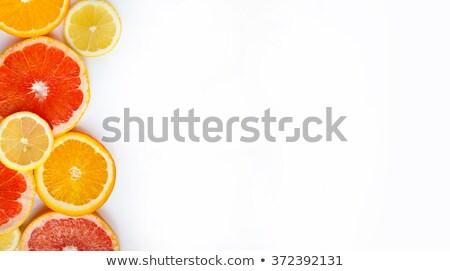Pompelmo arancione limone legno bordo Foto d'archivio © ozgur