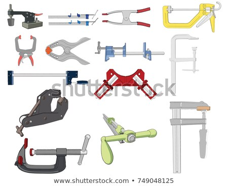 red and black plastic clamps stock photo © homydesign