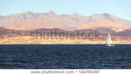 Sailboats Ride Wind Lake Mead Recreation Area Boaters Sail Stock photo © cboswell