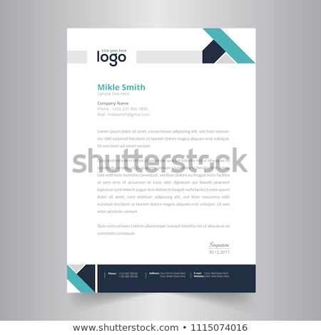 abstract blue flyer brochure template design for your company pr Stock photo © SArts