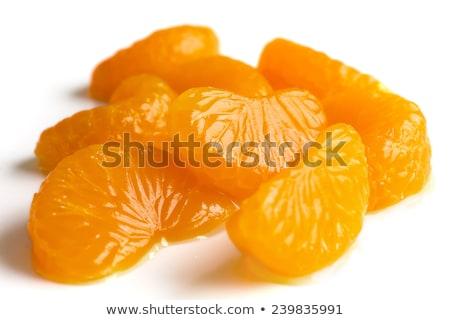 Dobozos mandarin narancsok tál hámozott narancs Stock fotó © Digifoodstock