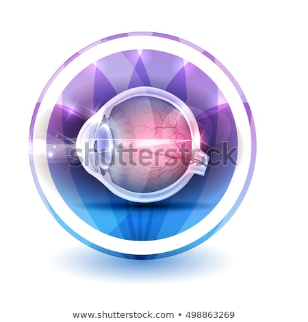 Healthy eye sign, round shape colorful overlay flower petals at  Stock photo © Tefi