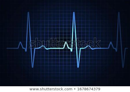 Normal heart cardiogram Stock photo © Tefi