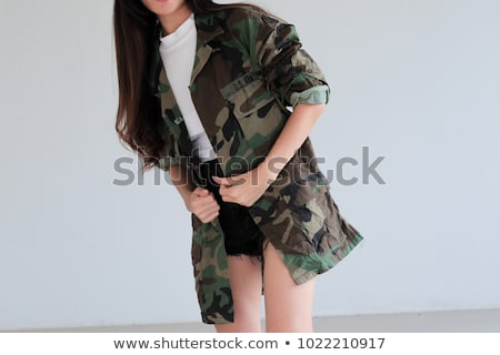 Korean boy wearing cap and jacket Stock photo © bluering