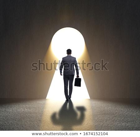 empresário · difícil · escolha · estrada · trabalho · sucesso - foto stock © alphaspirit