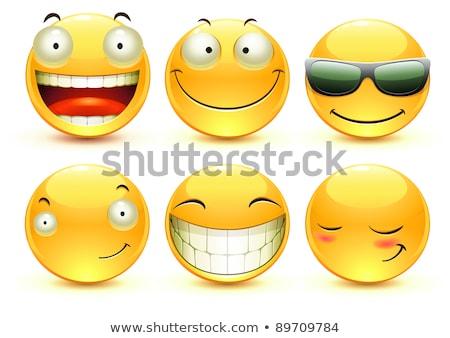 feliz · sorridente · confuso · legal · engraçado · avatar - foto stock © Loud-Mango