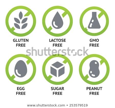 Egg Free Icon Stock photo © THP