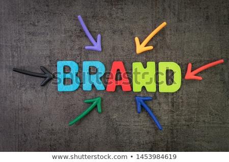 Chalkboard on the Office Wall with Corporate Identity Concept. Stock photo © tashatuvango