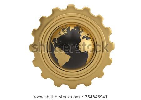 Internet Technology Concept. Golden Gears. 3D Illustration. Stock photo © tashatuvango