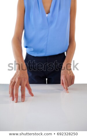 Mid section of creative businesswoman gesturing on table Stock photo © wavebreak_media