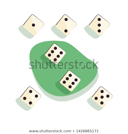 playing dice vector set different variants game cubes isolated aauthentic collection icons in real stock photo © pikepicture