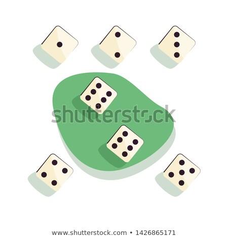 Stockfoto: Spelen · dobbelstenen · vector · ingesteld · verschillend · spel