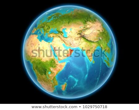 Omán piros tele Föld 3d illusztráció rendkívül Stock fotó © Harlekino