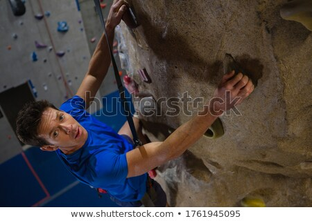 Retrato masculino atleta escalada parede fitness Foto stock © wavebreak_media