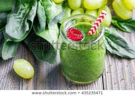Heerlijk druif smoothie houten oppervlak voedsel Stockfoto © nessokv