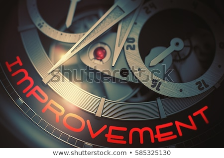 Improvement - Inscription on Watch. 3D Render. Stock photo © tashatuvango