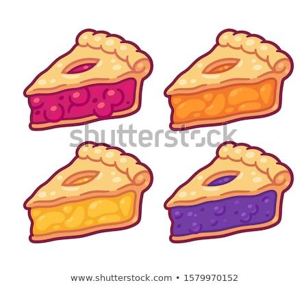 Plakje taart franse keuken voedsel vruchten Stockfoto © Digifoodstock