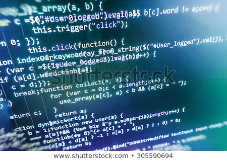 Software desarrollo escrito azul teclado clave Foto stock © tashatuvango