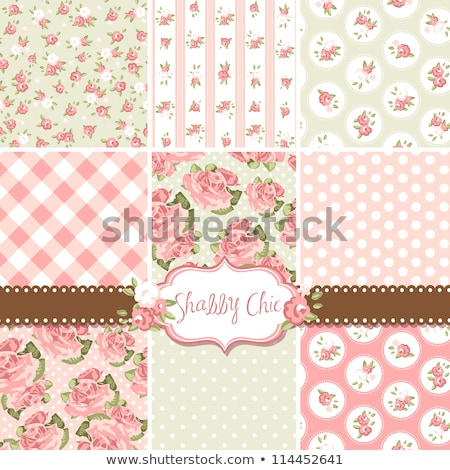 Fabric Stitches Shabby Chic Stock photo © lenm