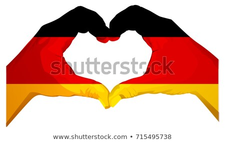 Two palms make heart shape. German flag Stock photo © orensila