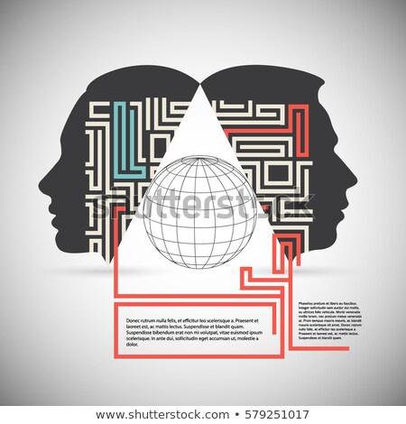 Megoldások könyv cím gerincoszlop közelkép kilátás Stock fotó © tashatuvango