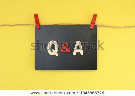 Black Chalkboard with Answers. 3D Rendering. Stock photo © tashatuvango