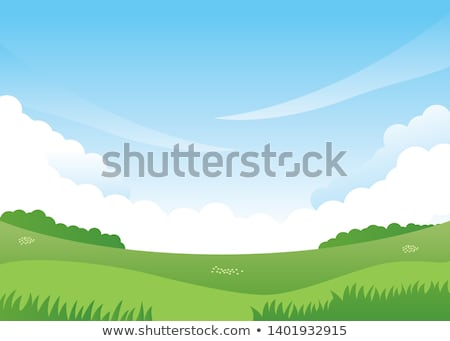 Nature background. Mountains and meadows.Vector illustration Stock photo © MaryValery