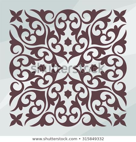 Orientalny wektora placu ozdoba elementy tradycyjny Zdjęcia stock © balasoiu
