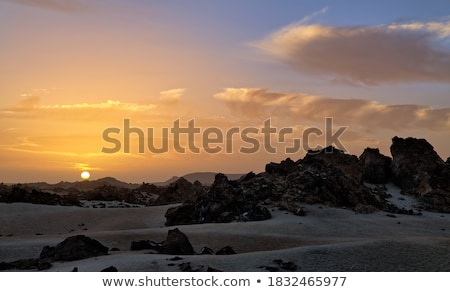A mountainous rugged volcanic landscape, Tenerife Stock photo © Ashnomad